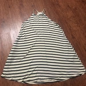 ava sky striped pocket swing dress